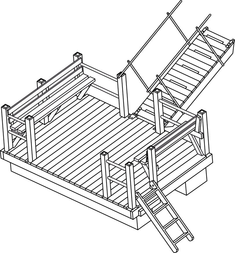 Floating dock plan