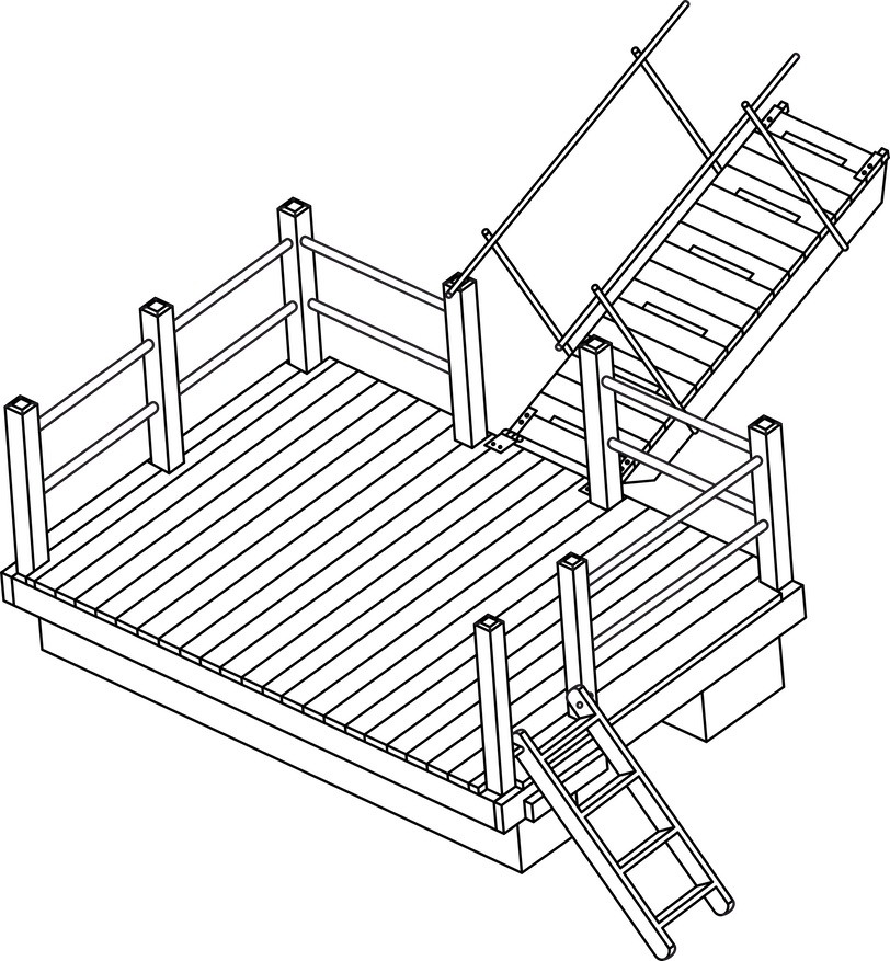 Rail Floating Dock plan