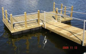 Rail Dock in in Pasco County, Hernando Beach, Tampa and Hillsborough County